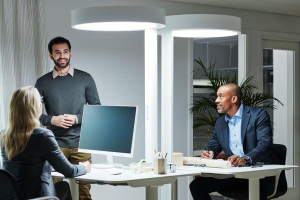BrainLit-valaistusjärjestelmä käytössä toimistotiloissa Kuva: BrainLit