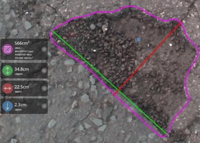 3D-mittaus tien kunto 1