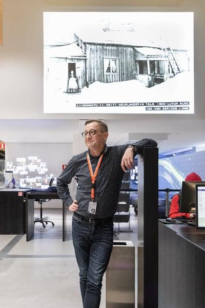 ICT-asiantuntija ja Oodin AV-tekniikasta vastaava Urpo Nylander