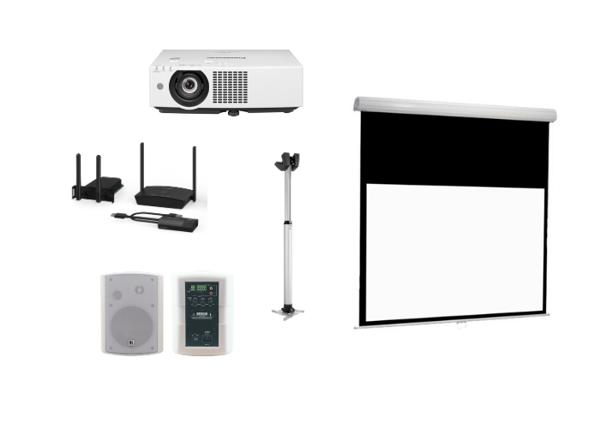 Panasonic-kokouspaketti projektorilla kokoushuoneeseen tai neuvottelutilaan