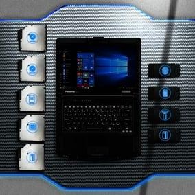 Panasonic TOUGHBOOK 55 -kannettavan tietokoneen ominaisuudet ja kytkennät Kuva: Panasonic
