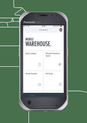 SAP-mobile-warehouse-start-screen-view-on-Panasonic-FZ-T1-handheld