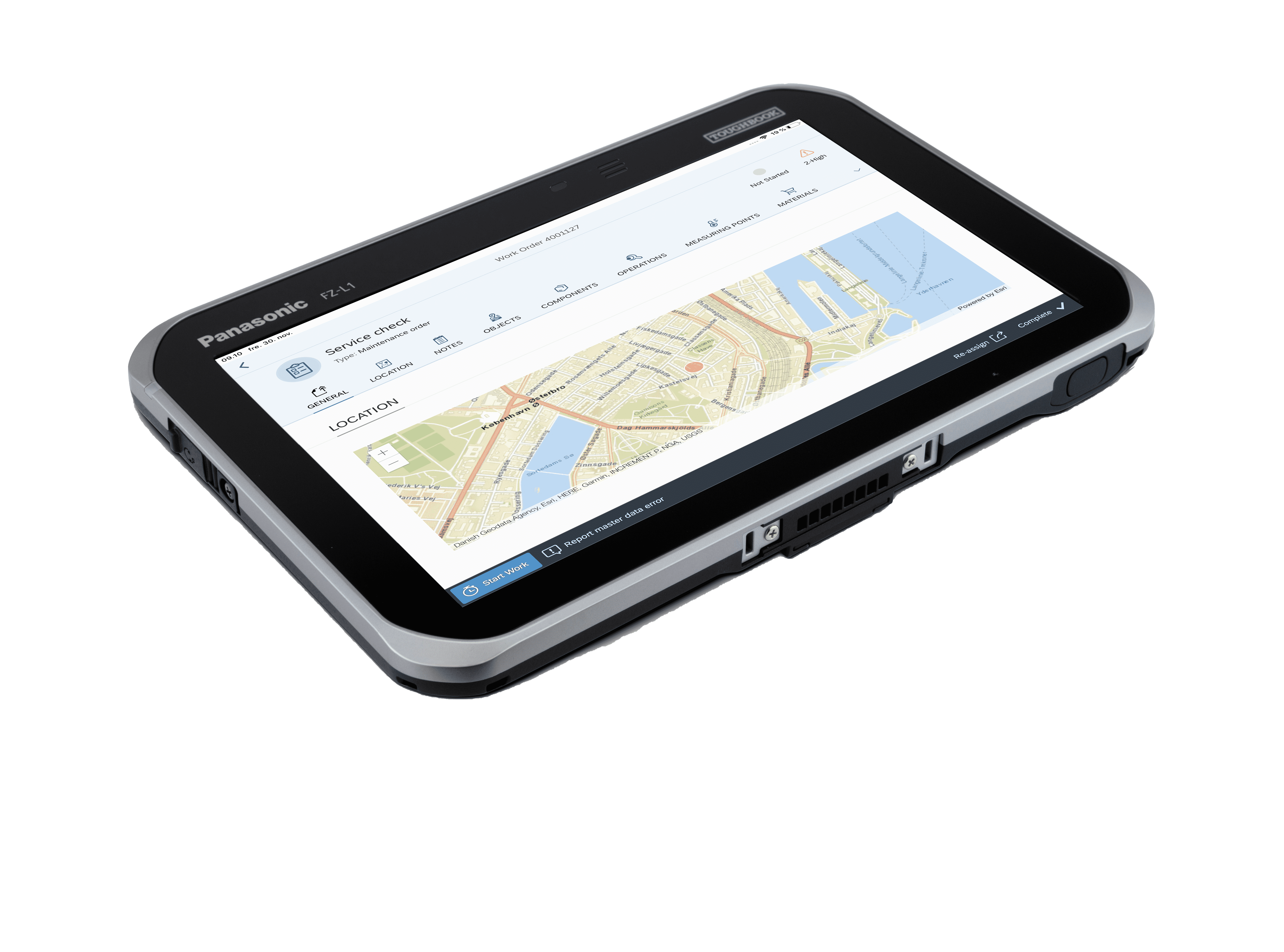 SAP-mobile-work-order-service-check-screen-view-on-Panasonic-Toughbook-FZ-L1-tablet