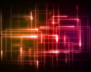 punaisia ja oransseja lasersädettä kuvaavia viivoja eri suunnista Kuva: Shutterstock