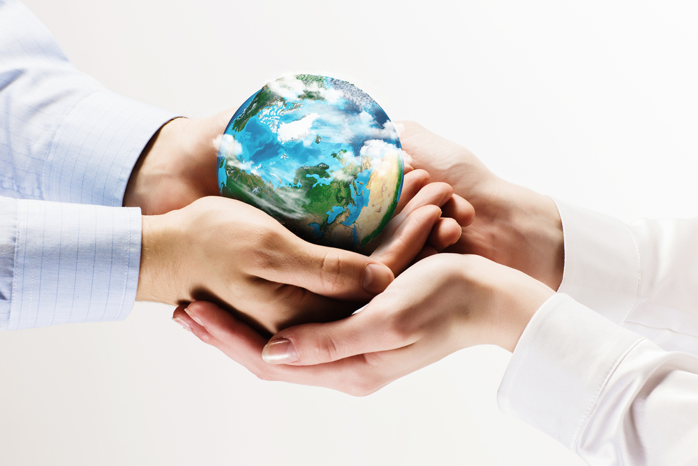 Lets save our planet earth. Ecology concept. Elements of this image are furnished by NASA Image: Shutterstock