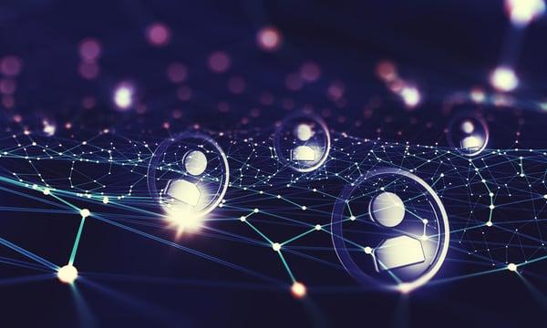 henkilöt muodostavat sosiaalisen verkon Kuva: Shutterstock