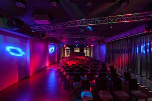 Woodland hotel - dark illuminated modern interior Image: Shutterstock