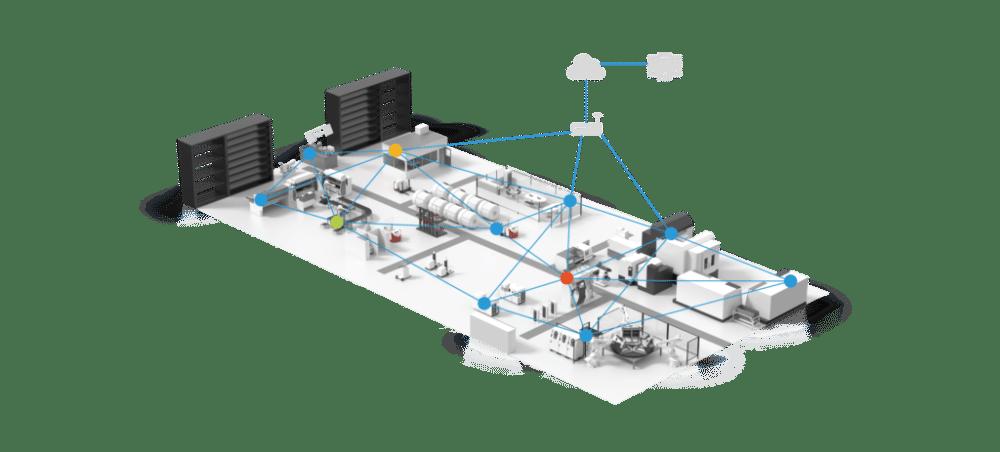 esimerkki digitaalisesta kaksosesta FliQ Smart Factoryssä Kuva: FliQ