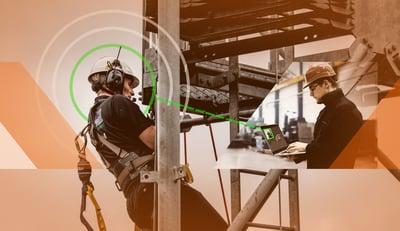 mies tekee yksin töitä mastossa ja on yhteydessä kollegaan tehtaalla