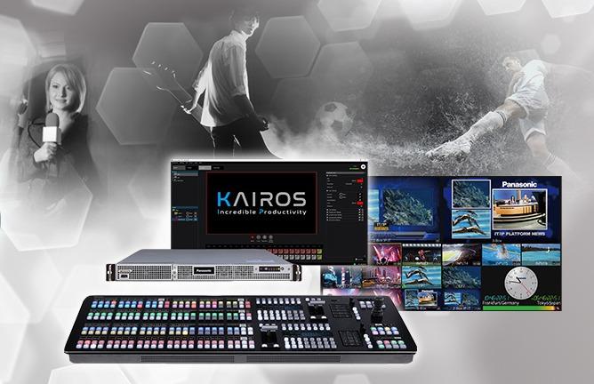 Panasonic KAIROS tarjoaa videotuotantoon ja videonkäsittelyyn uskomatonta tuottavuutta Kuva Panasonic