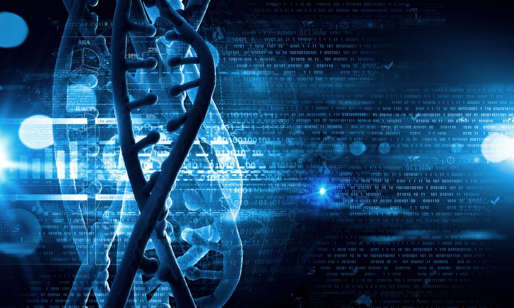 DNA valaistuna futuristisessa taustassa Kuva: Shutterstock